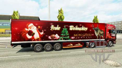 Noël de la peau pour Scania camion pour Euro Truck Simulator 2