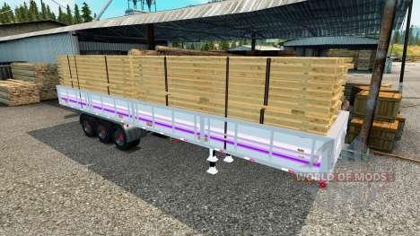 Flachbett-Auflieger für Euro Truck Simulator 2