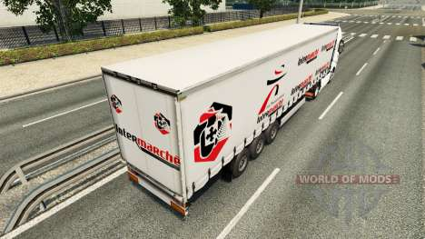 Intermarché de la peau pour Volvo camion pour Euro Truck Simulator 2