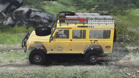 Land Rover Defender 110 Camel Trophy [03.03.16] pour Spin Tires