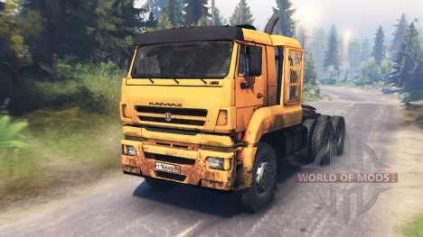 KamAZ-65226 v3.0 pour Spin Tires