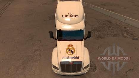 Peterbilt 579 Real Madrid Skin für American Truck Simulator