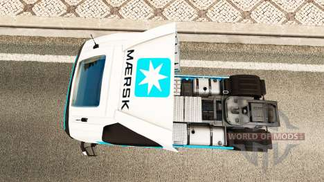 Maersk peau pour Volvo camion pour Euro Truck Simulator 2