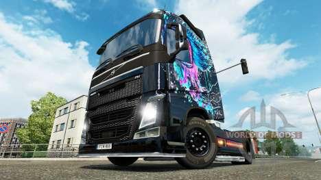 Böse Augen-skin für den Volvo truck für Euro Truck Simulator 2