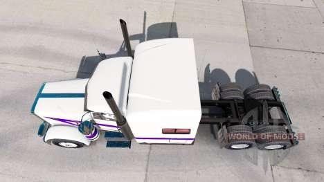 La peau Blanche Et Violette pour le camion Peter pour American Truck Simulator