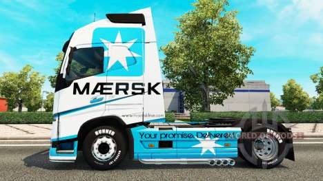 Maersk peau pour Volvo camion pour Euro Truck Simulator 2