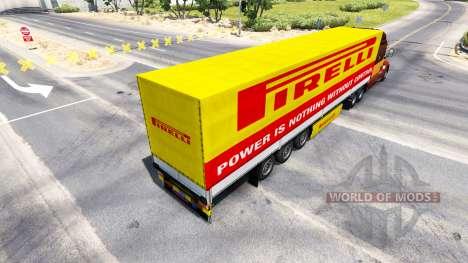 Pirelli de la peau pour une remorque pour American Truck Simulator