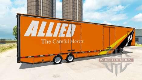 Die semi-trailer Umzugswagen RD für American Truck Simulator