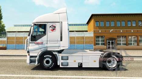 La peau Intermarché sur le camion Iveco pour Euro Truck Simulator 2