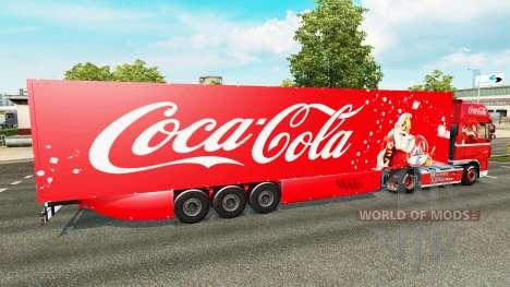 La peau de Coca-Cola sur le camion DAF pour Euro Truck Simulator 2