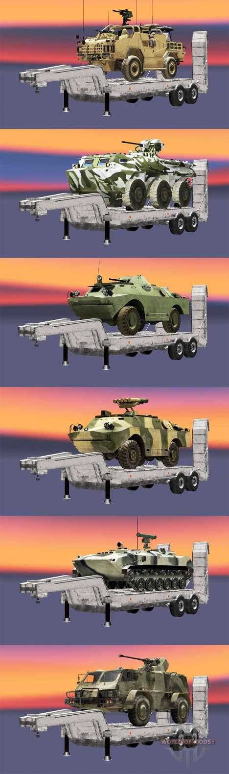 Semi Durchführung militärischer Ausrüstung v1.1 für Euro Truck Simulator 2