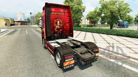 Noël de la peau pour Volvo camion pour Euro Truck Simulator 2