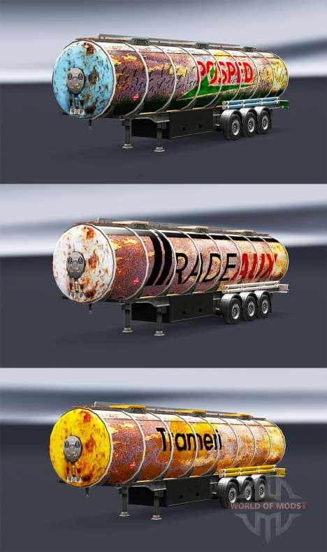 Rusty peaux pour les remorques pour Euro Truck Simulator 2