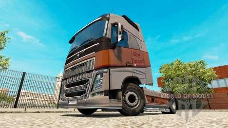 Argent Transports de la peau pour Volvo camion pour Euro Truck Simulator 2