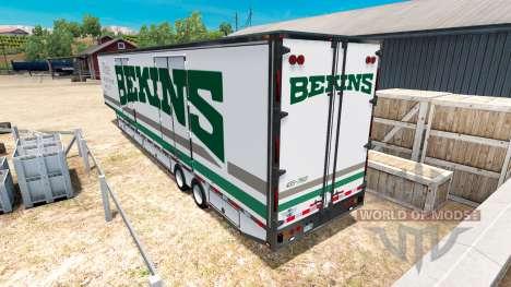 La semi-remorque camion de Déménagement RD pour American Truck Simulator