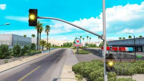 Longue jaune feux de circulation de la lumière pour American Truck Simulator