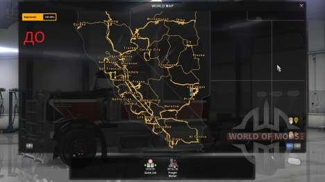 De nouvelles villes de Californie et du Nevada pour American Truck Simulator