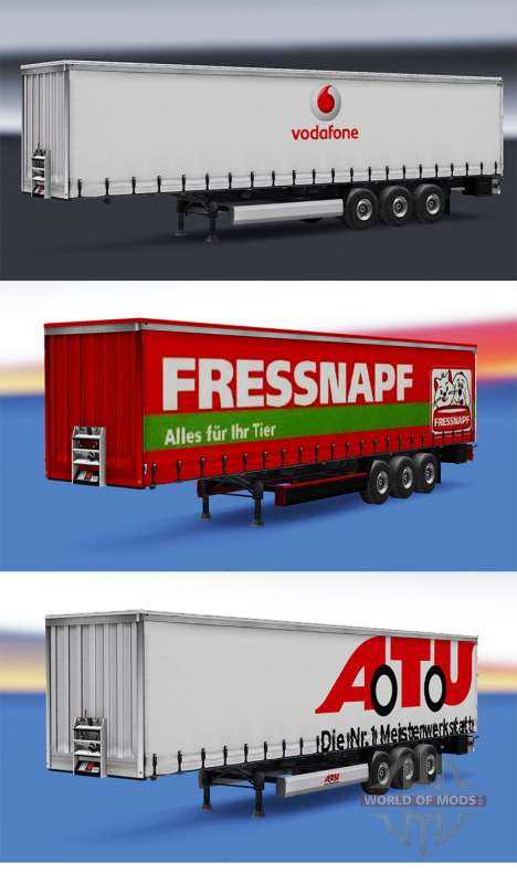 Une collection de peaux pour les remorques v1.0 pour Euro Truck Simulator 2