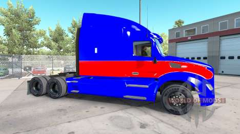 Le rouge et le bleu de la peau pour le camion Pe pour American Truck Simulator