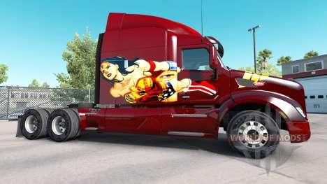 Wonder Woman de la peau pour le camion Peterbilt pour American Truck Simulator