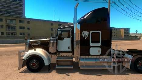 Kenworth W900 Brooklyn Nets Skin für American Truck Simulator
