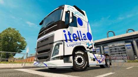 Itella skin für Volvo-LKW für Euro Truck Simulator 2