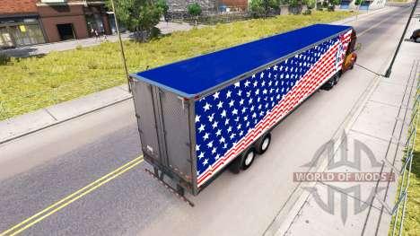 La peau Statue De la Liberté sur la remorque pour American Truck Simulator