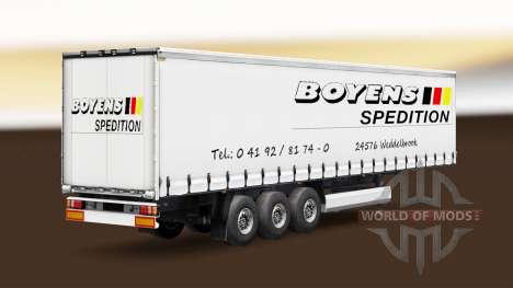 La peau Boyens v1.1 sur la remorque pour Euro Truck Simulator 2