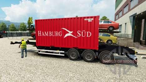 Semi porte-conteneurs pour Euro Truck Simulator 2