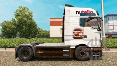 Nutella-skin v2.0 Traktor MAN für Euro Truck Simulator 2