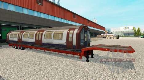 Semi-Trailer mit zeleznodoroznyj Kompositionen für Euro Truck Simulator 2
