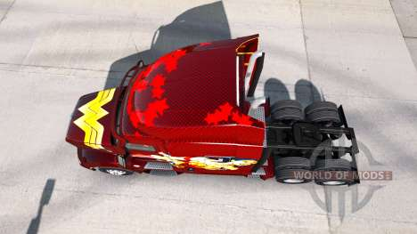 Wonder Woman skin für den truck Peterbilt für American Truck Simulator