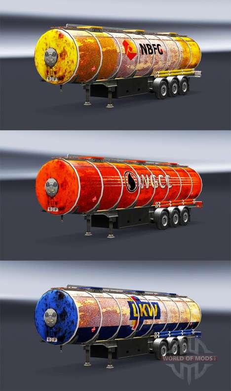 Rusty skins für Trailer für Euro Truck Simulator 2