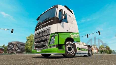 EAcres skin v1.1 Sattelzugmaschine Volvo für Euro Truck Simulator 2
