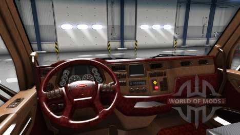 L'intérieur de luxe Peterbilt 579 pour American Truck Simulator