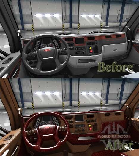 Die Luxus-Interieur Peterbilt 579 für American Truck Simulator