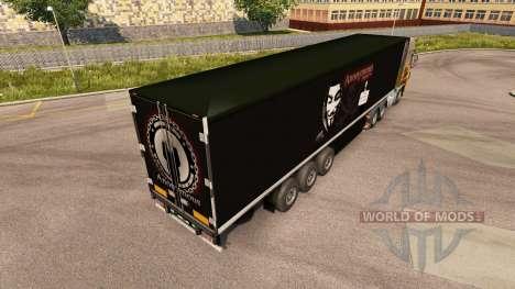 La peau Top Secret Autonome sur la remorque pour Euro Truck Simulator 2