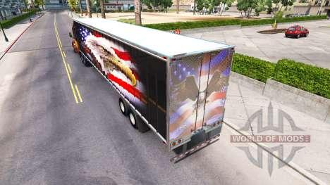 La peau American eagle sur l'arrière d'un semi pour American Truck Simulator