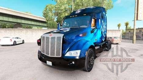 Scorpio Blue skin für den truck Peterbilt für American Truck Simulator