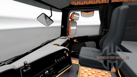 Noir et intérieur orange pour Scania pour Euro Truck Simulator 2