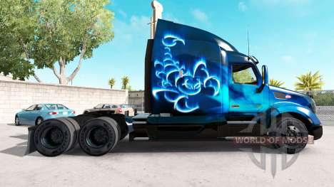 Scorpio Blue de la peau pour le camion Peterbilt pour American Truck Simulator
