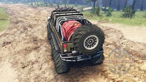 Hummer H2 6x6 für Spin Tires