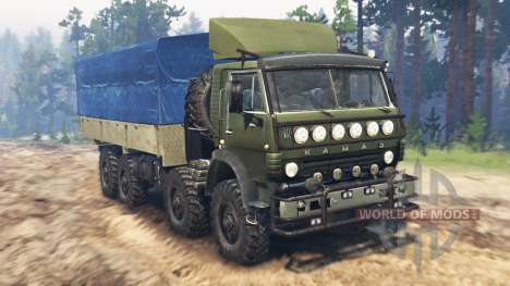 KamAZ-6350 Mustang v3.0 pour Spin Tires