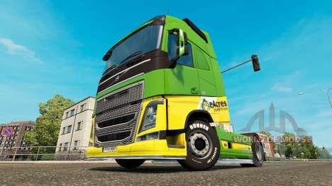 EAcres de la peau pour Volvo camion pour Euro Truck Simulator 2