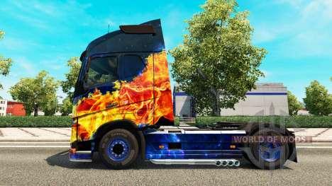Feu bleu de la peau pour Volvo camion pour Euro Truck Simulator 2