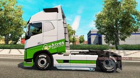 EAcres peau v1.1 tracteur Volvo pour Euro Truck Simulator 2