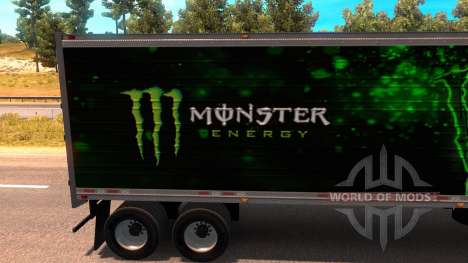 Monster Energy Trailer für American Truck Simulator