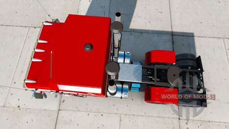 Die Haut Weiß und Rot für den Traktor Kenworth K für American Truck Simulator