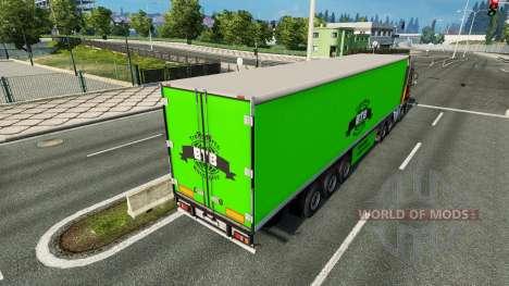 BTB Haut auf dem Anhänger für Euro Truck Simulator 2