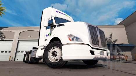 Haut auf die Fed-Ex-truck Kenworth für American Truck Simulator